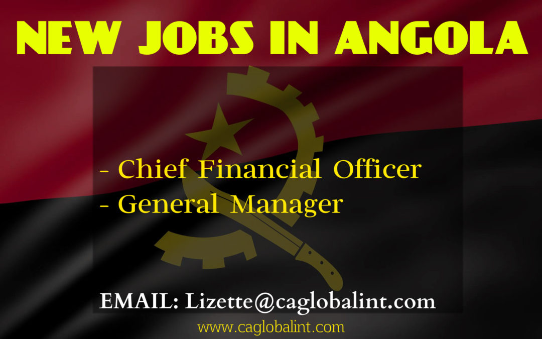 Jobs in Lusophone Africa Angola: GM & CFO